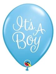 """11"""" It's A Boy Classy Script Baby Balloon"""