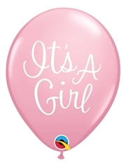"11"" It's A Gril Classy Cript Baby Balloon"