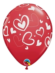 "11"" Mix & Match Hearts Balloon"