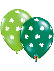 "11"" Big Shamrocks St. Patrick's Day Balloons"