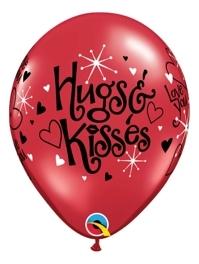 """11"""" I Love You Hugs & Kisses Balloon"""