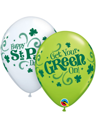 """11"""" St. Patrick's Day Get Your Green On Balloons"""
