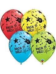 "11"" Rock & Roll Stars Music Balloons"