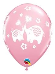 "11"" It's A Girl Elephants Baby Balloon"