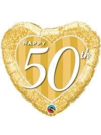 """18"""" Happy 50th Anniversary Heart Balloon"""