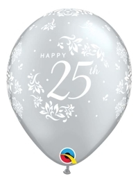 "11"" 25th Anniversary Damask Balloon"