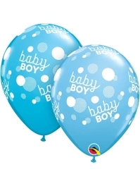 "11"" Baby Boy Blue Dots Balloon"