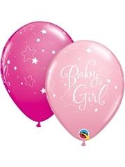 """11"""" Baby Girl Stars Balloon"""
