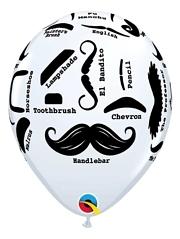 """11"""" Mustache Styles Balloon"""