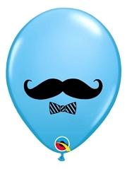 """11"""" Mustache Bow Tie Balloon"""