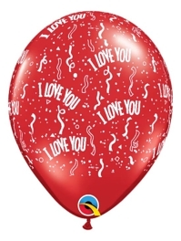 "11"" I Love You A Round Balloons"