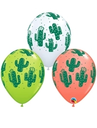"11"" Cactuses Fiesta Balloons"