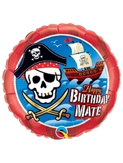 "18"" Pirate Ship Happy Birthday Balloon"