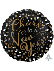 "17"" Confetti Celebration New Years Balloon"