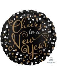 "17"" Confetti Celebration New Years Balloon"