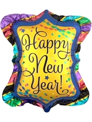 "27"" Happy New Year Ruffle Frame Balloon"