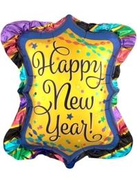 "27"" Happy New Year Ruffle Frame Balloon"
