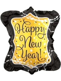 """27"""" New Year Stramer & Sparkle Balloon"""