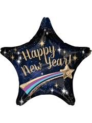"28"" Happy New Year Shooting Star Balloon"