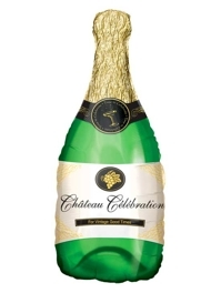"""36"""" Bubbly Champagne Bottle Balloon"""