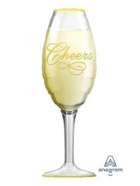 "36"" Champagne Glass New Year Balloon"