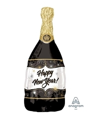 "36"" New year Bubbly Wine Bottle Balloon"