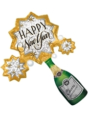 "32"" New Year Champagne Burst Balloon"