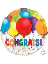 """17"""" Bold Congratulations Balloons Balloon"""