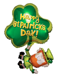 "33"" St. Patty's Day Leprechaun Balloon"