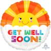 "17"" Get Well Smiley Sunshine Balloon"