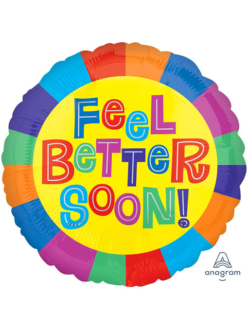 "17"" Feel Better Soon Get Well Balloon"