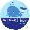 """17"""" Get Whale Soon Get Well Balloon"""