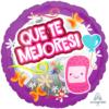 "17"" Que Te Mejores Pink Bandage Balloon"