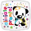 "17"" Aliviate Pronto Panda Bear Balloon"