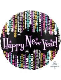 "17"" New Year Pizzazz Balloon"