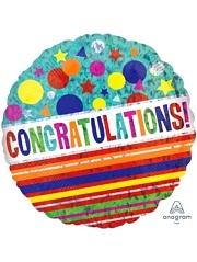 """18"""" Congratulations Sparkle Balloon"""