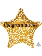 """19"""" Congratulation Sophisticate Star Balloon"""