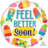 """17"""" Feel Better Soon Popsicle Balloon"""