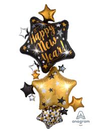 67 Happy New Year Star Stacker Balloon