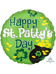 "17"" Happy St. Patty's Day Pot of Gold Balloon"