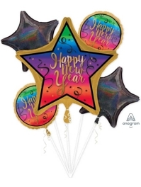 Colorful New Year Balloon Assortment