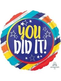 "17"" You Did It Stars Congratulation Balloon"