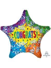 """28"""" Streamer Explosion Congrats Balloon"""