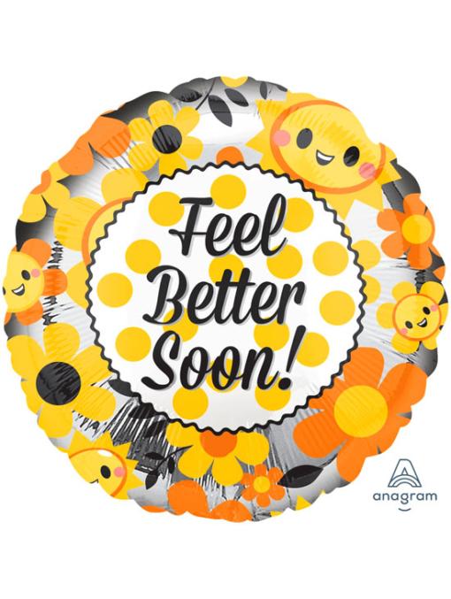 "17"" Feel Better Soon Happy Get Well Balloon"