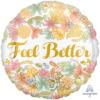 """17"""" Golden Floral Feel Better Balloon"""