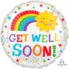 "17"" Get Well Happy Sun Balloon"