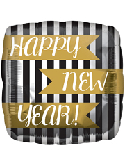 "17"" New Year Vertical Stripes Balloon"
