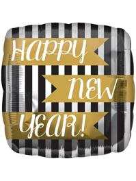 "17"" New Year Vertical Stripes Balloon"