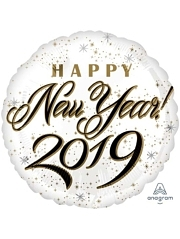 "17"" Happy New Years 2019 Balloon"