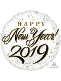 "17"" Happy New Years 2019 Balloon"